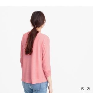 J. Crew Lightweight wool tunic sweater in orange